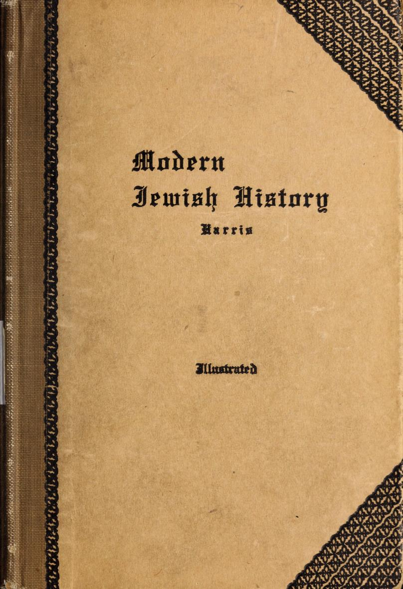 [Cover] from Modern Jewish History by Maurice Harris