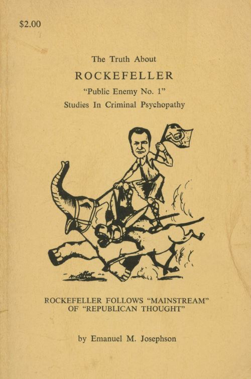 [Book Cover] from The Truth about Rockefeller by Emanuel Josephson