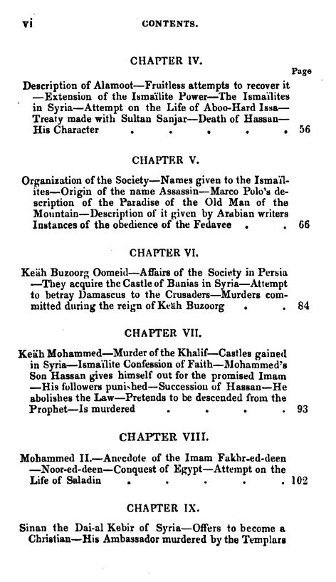 [Contents 2 of 7] from Secret Societies of the Middle Ages by Thomas Keightly