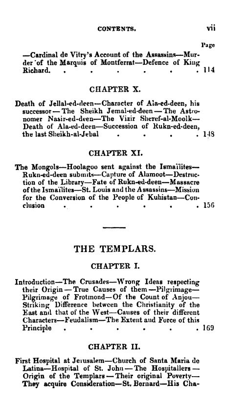 [Contents 3 of 7] from Secret Societies of the Middle Ages by Thomas Keightly