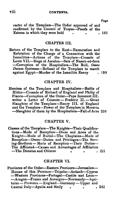[Contents 4 of 7] from Secret Societies of the Middle Ages by Thomas Keightly
