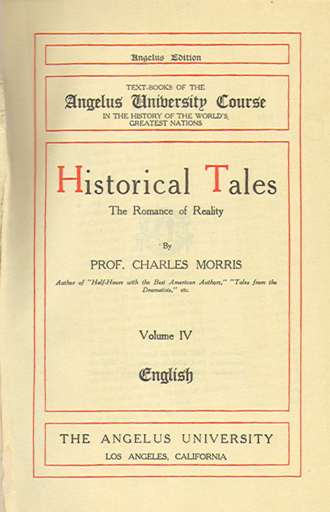 [Title Page] from Historical Tales - English by Charles Morris