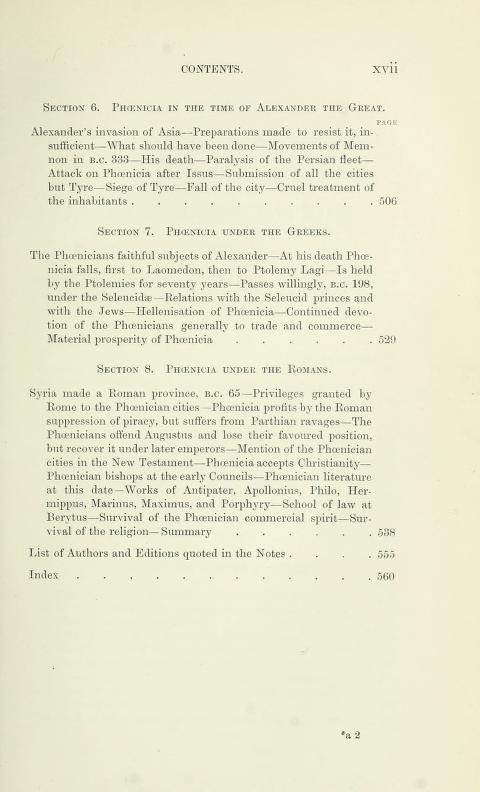 [Contents, Page 7 of 7] from History of Phoenicia by George Rawlinson