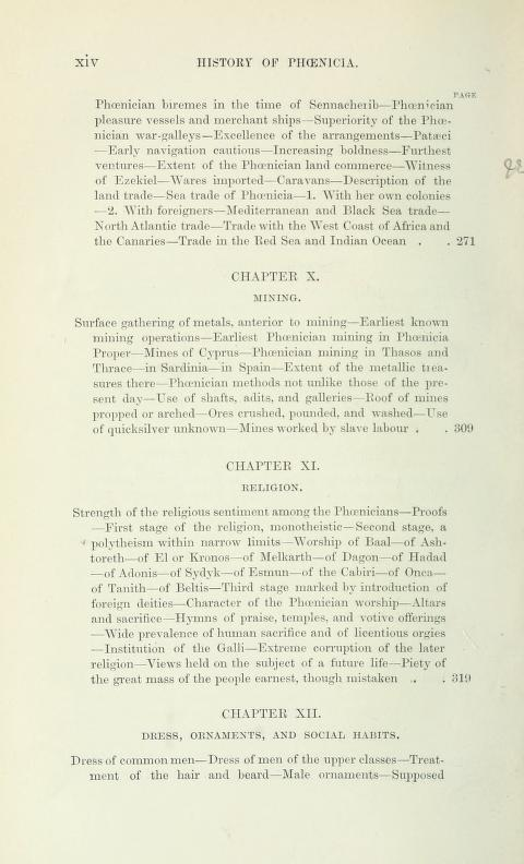 [Contents, Page 4 of 7] from History of Phoenicia by George Rawlinson