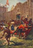 Indians attack Machilmackinac