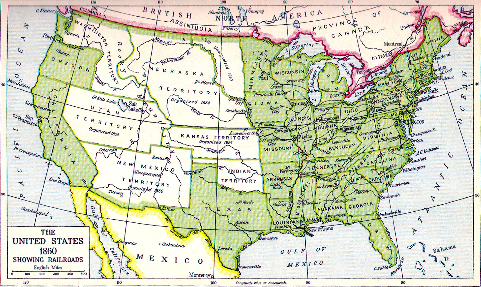 map united states 1860 boaytk map of united states 1860