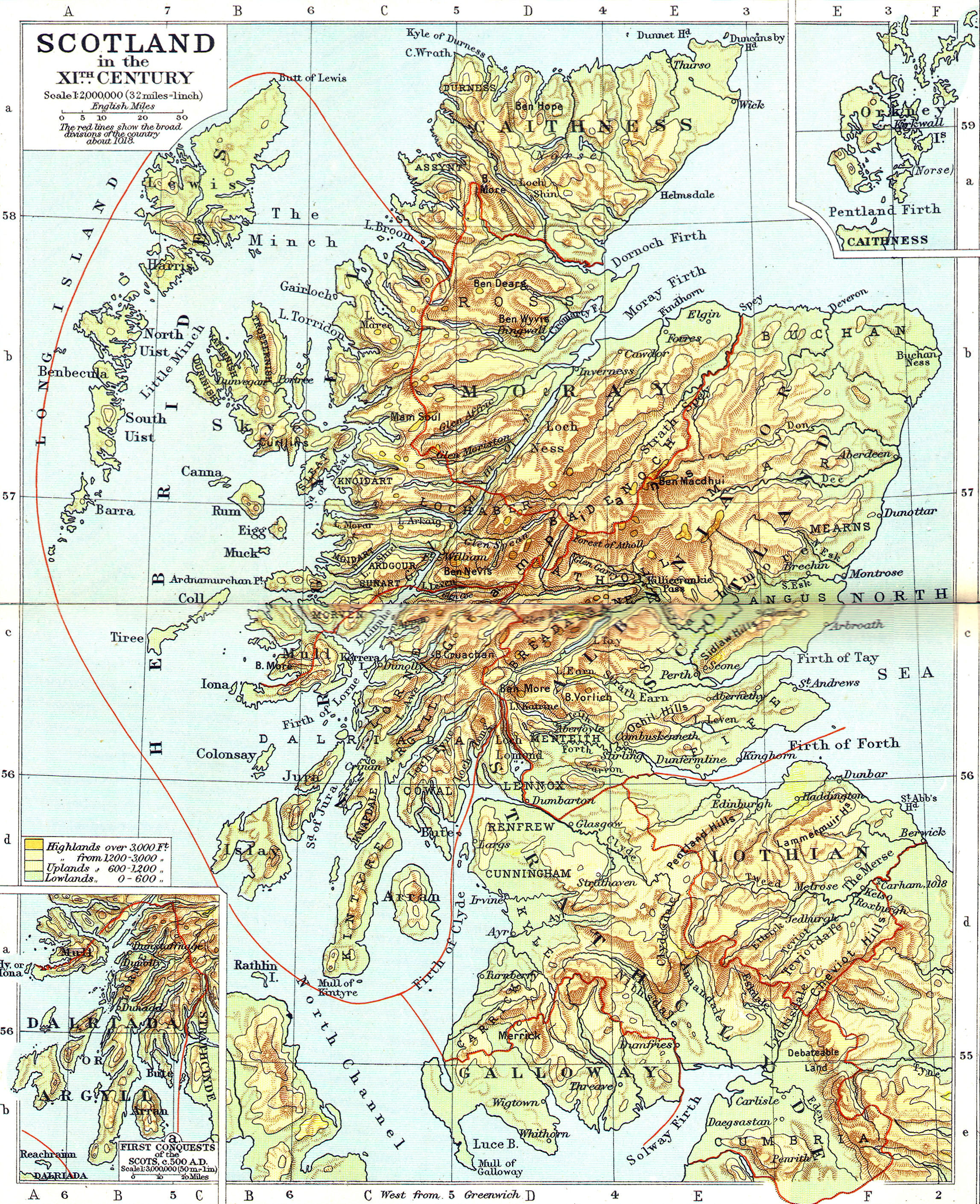 Online Maps Scotland old map – Tourist Map Scotland