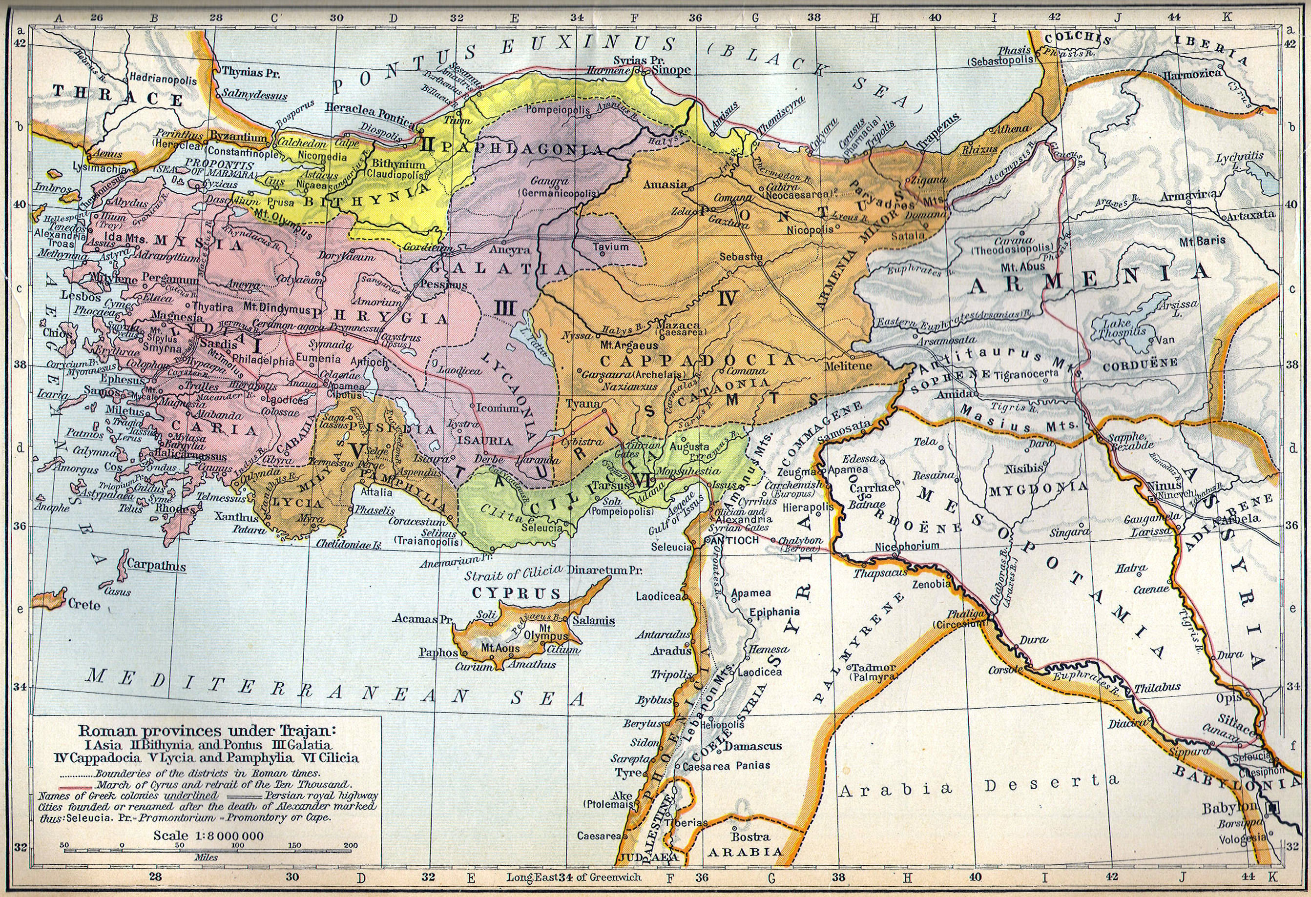 Roman Provinces Under Trajan Maps Of The Ancient World - Map of rome under trajan