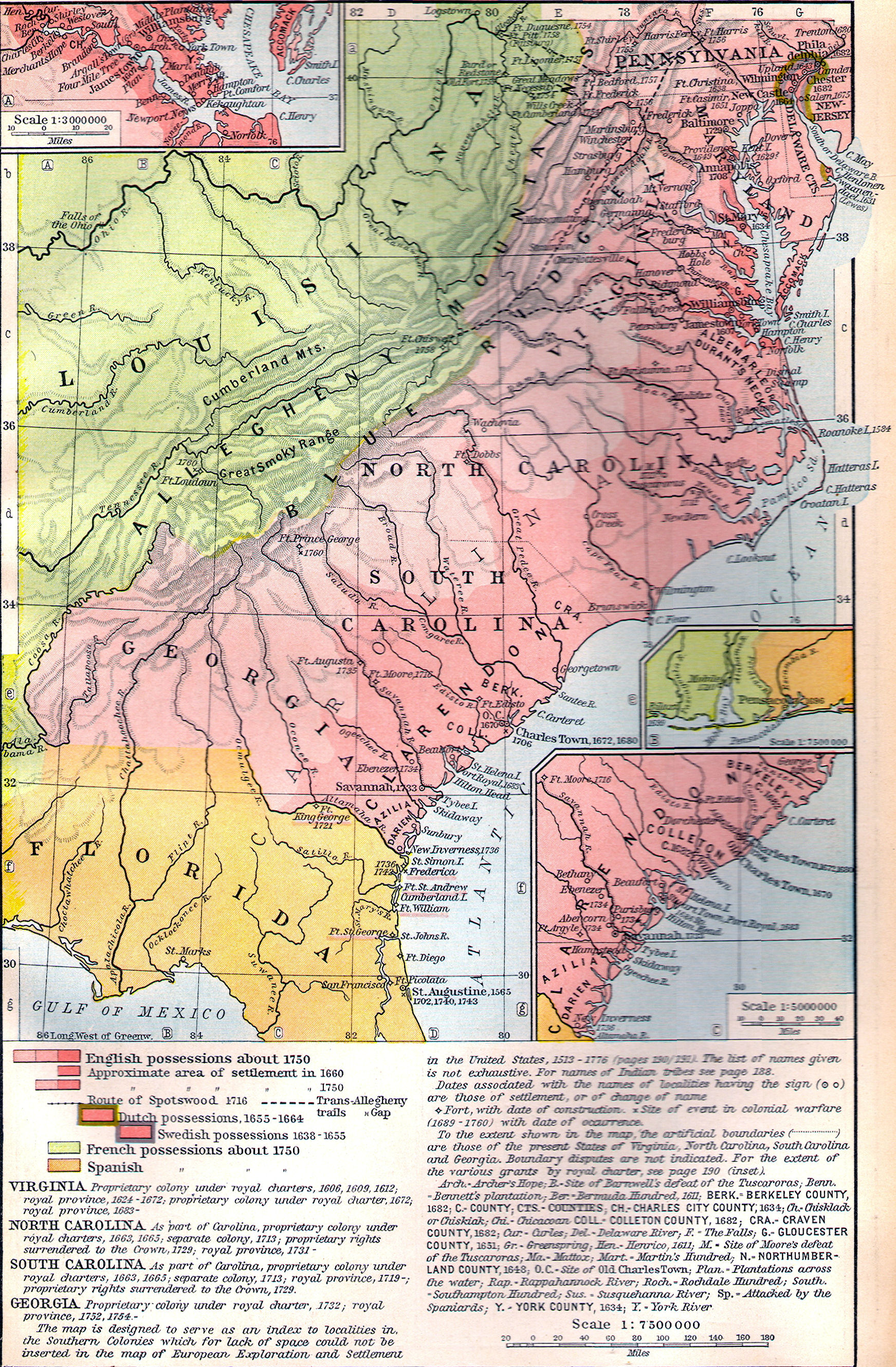 Shep The Geography Of The Middle Colonies