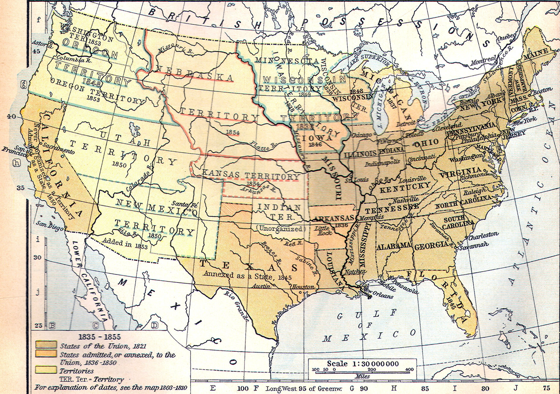Photo Credit Http Www Heritage History Com Maps Shepherd Shep202b Jpg By 1855 The United States Had Streached From Coast To Coast But All The Territory