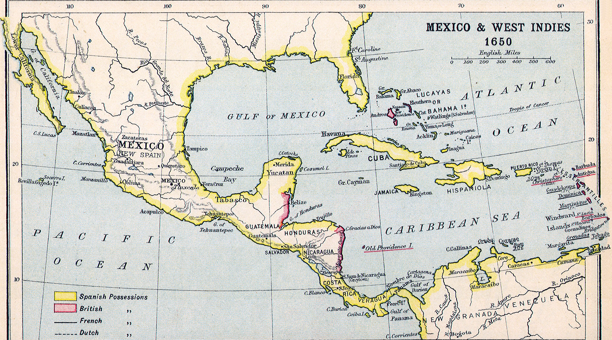 Heritage History Products - West indies central america 1763