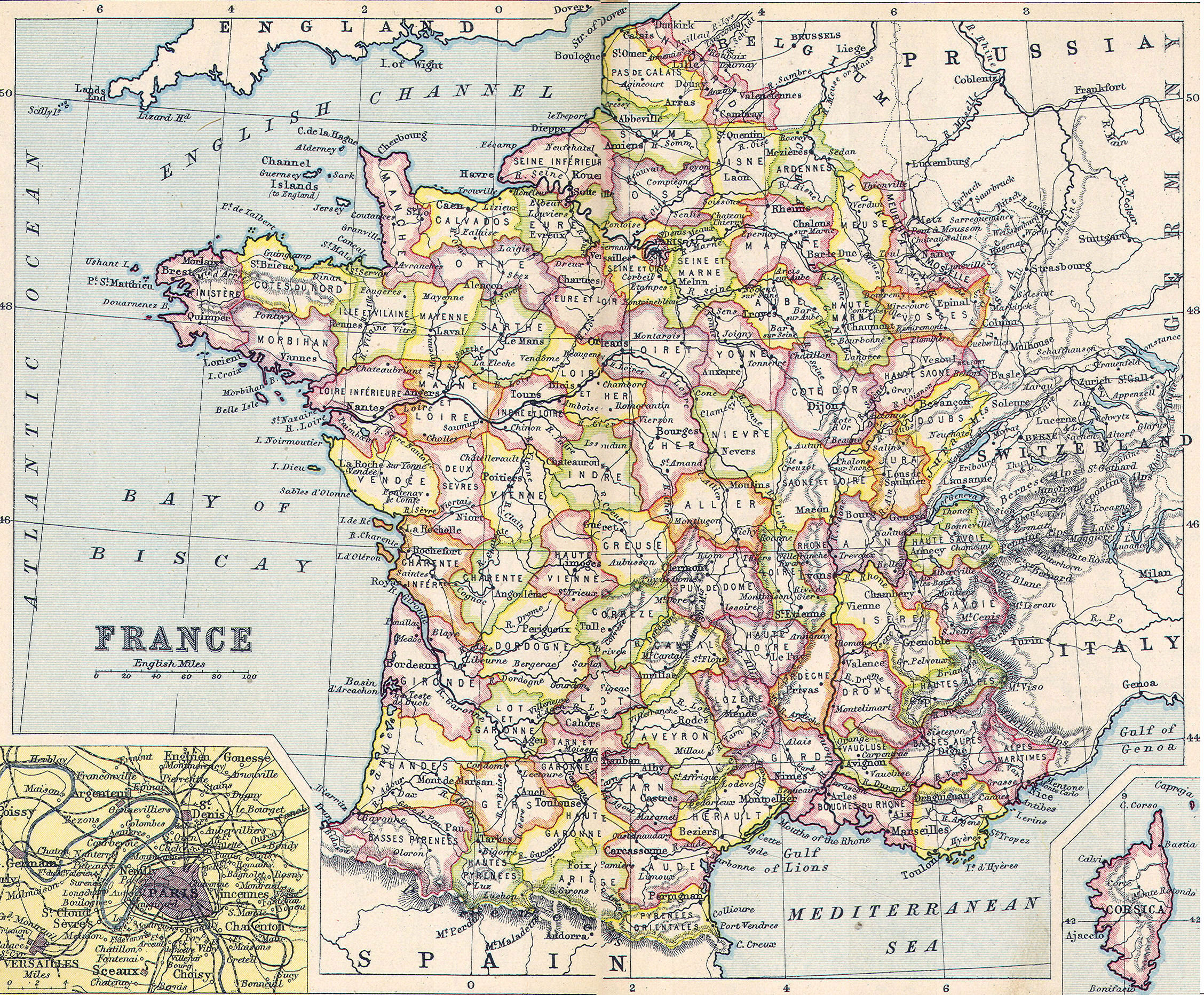 Map Of France French Revolution.Heritage History Products