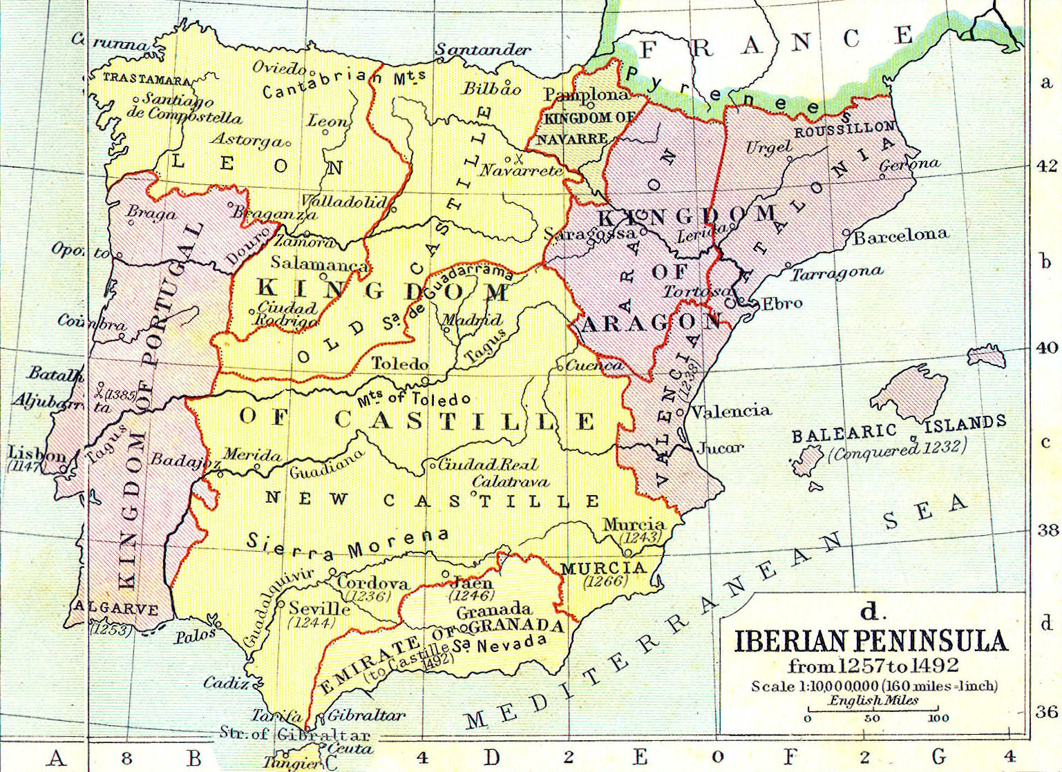 Heritage History Products - Spain historical map