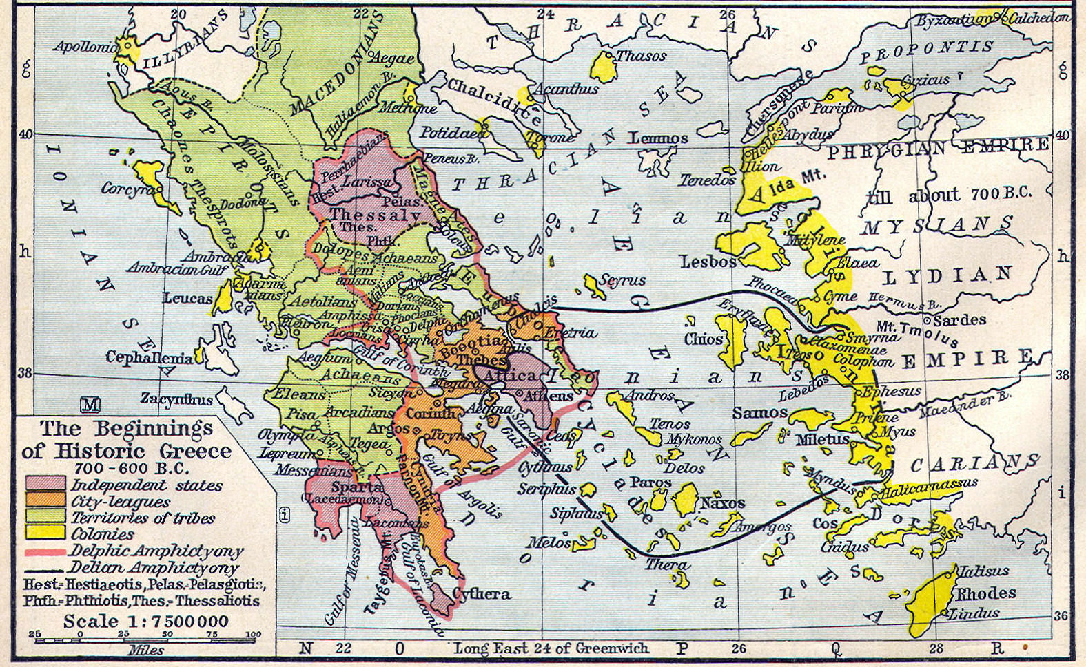 Ancient Greece Map With Cities.Ancient Greece Classical Curriculum Heritage History Revision 2