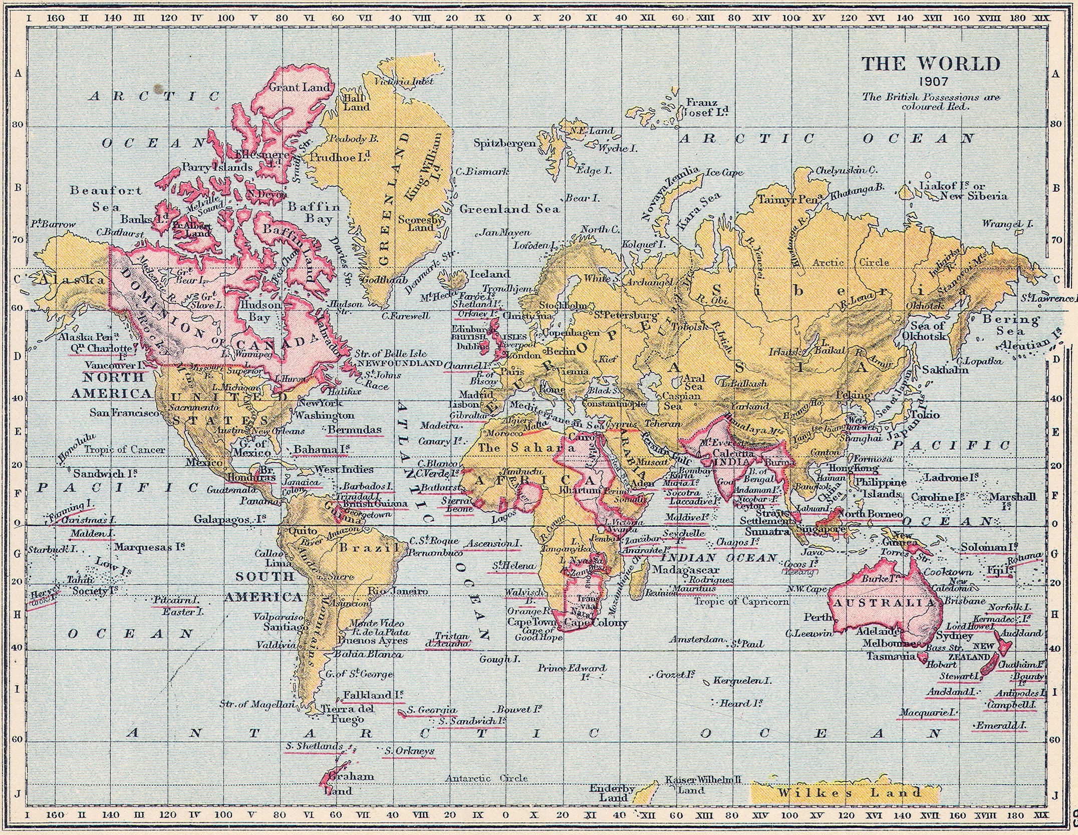 British Empire Classical Curriculum Heritage History Revision - Victorian world map