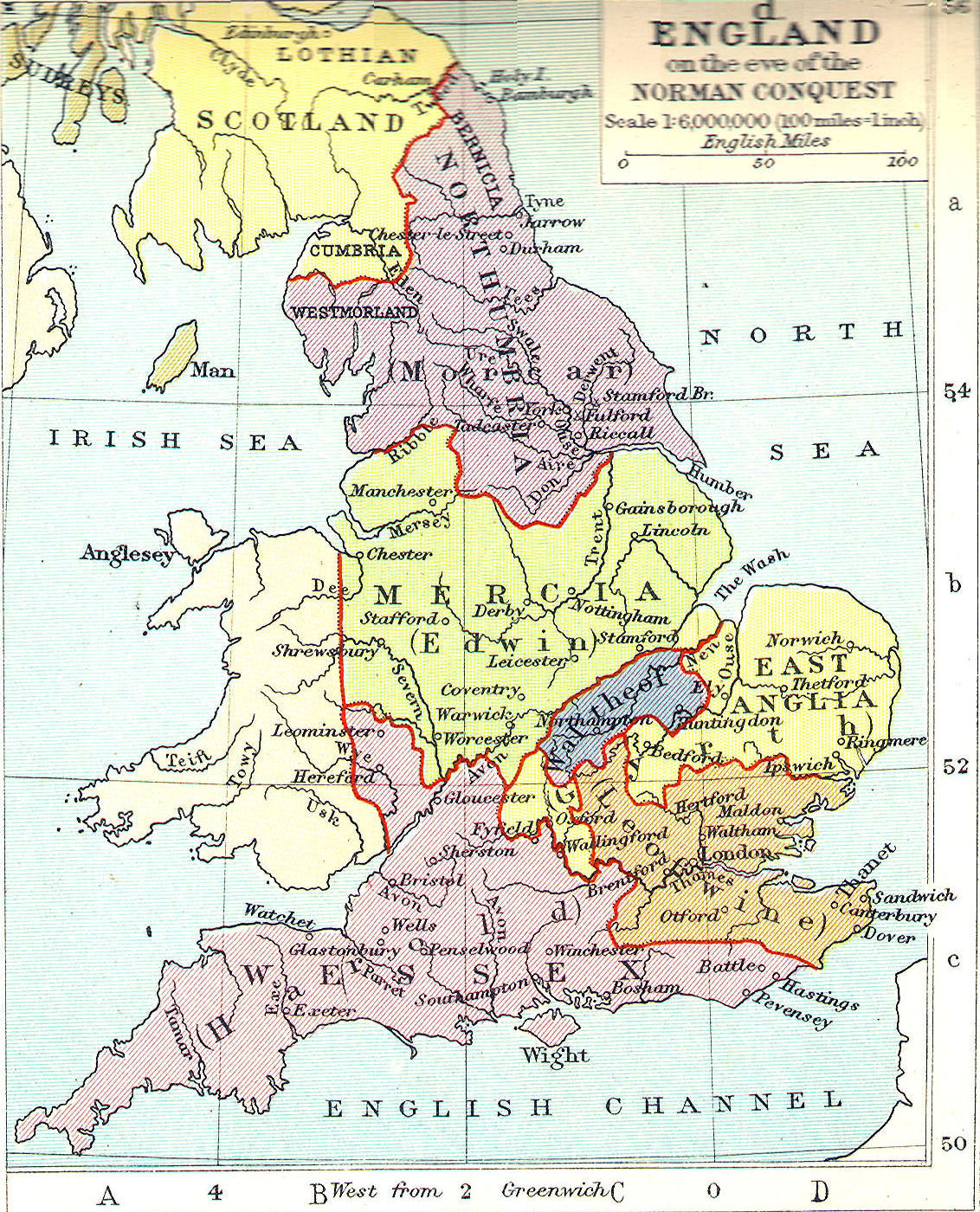 Map Of England 200.British Middle Ages Classical Curriculum Heritage History Revision 2